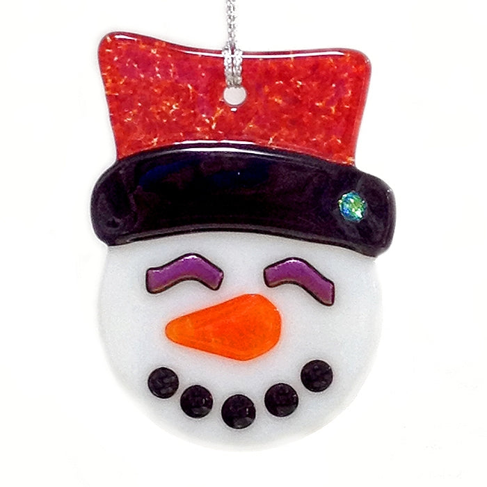 Snowman Ornament- by Charlotte Behrens - © Blue Pomegranate Gallery
