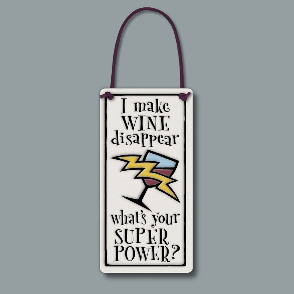 """Wine Super Power"" Wine Tag by Michael Macone - © Blue Pomegranate Gallery"