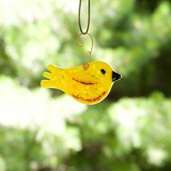 Yellow Thrush Sun Catcher by Riha