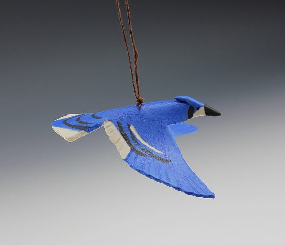 Blue Jay Ornament by Beth DiCara - © Blue Pomegranate Gallery