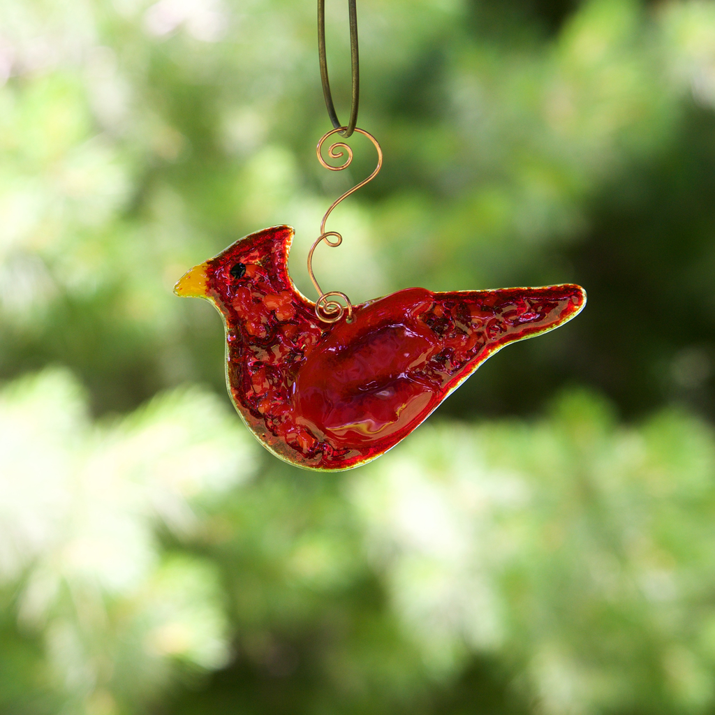 Cardinal Sun Catcher by Riha - © Blue Pomegranate Gallery