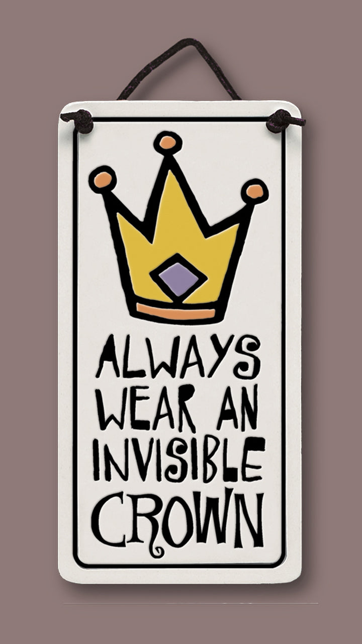 "Flat Plaque ""Invisible Crown"" by Michael Macone - © Blue Pomegranate Gallery"