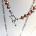 Sand Pearls with Quartz Crystals and Hammered Circles Necklace by Cassie Leaders - © Blue Pomegranate Gallery