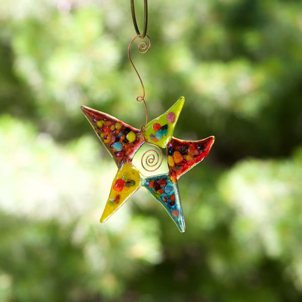 Colorburst Star Ornament by Heidi Riha - © Blue Pomegranate Gallery