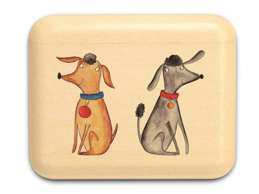 "Two Dogs Box 1 x 1 1/2 x 2"" by Michael Fisher - © Blue Pomegranate Gallery"