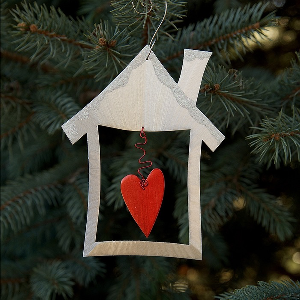 Heart & Home Ornament by Sondra Gerber - © Blue Pomegranate Gallery