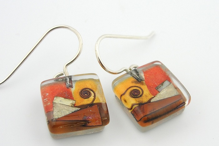 Santa Fe Snail Drop Earrings by Mor - © Blue Pomegranate Gallery