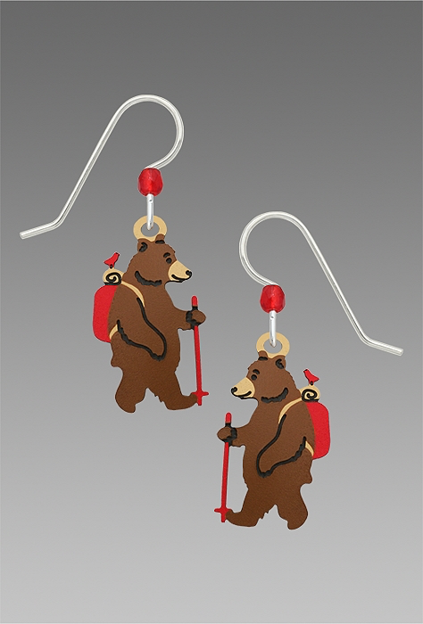 1957 Hiking Bear Earrings by Barbara MacCambridge - © Blue Pomegranate Gallery