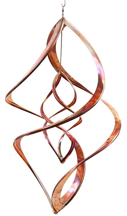 "Double Infinity 16"" Copper Spinner - © Blue Pomegranate Gallery"