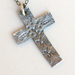 St. Silver Classic Cross Necklace by McQueen - © Blue Pomegranate Gallery