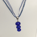 Cobalt 3 Bubble Glass Bead Necklace by Charmaine Jackson