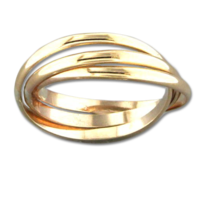 Gold Filled Rolling Trio Ring by Mark Steel, Size 5