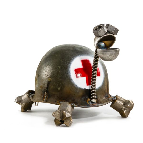 Red Cross Army Turtle by Fred Conlon - © Blue Pomegranate Gallery