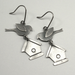 Birds and Birdhouse St. Silver Earrings by McQueen