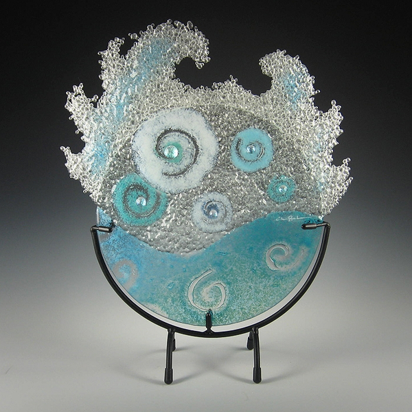Aqua Splash in Stand by Charlotte Behrens - © Blue Pomegranate Gallery