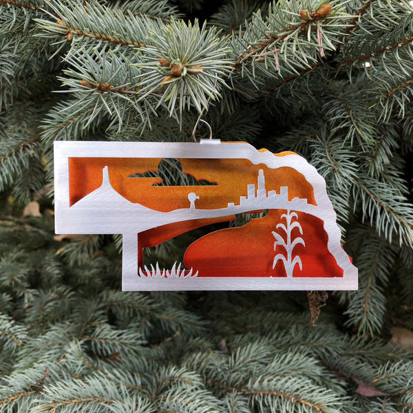 Nebraska Heartland Ornament by Sondra Gerber