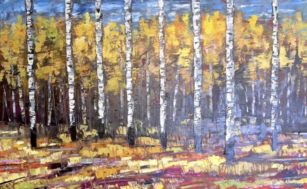 "Fall Premier by Jeff Boutin, 30 x 48"" Oil on Canvas - © Blue Pomegranate Gallery"