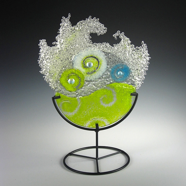 Mini Lime Splash in stand by Charlotte Behrens - © Blue Pomegranate Gallery