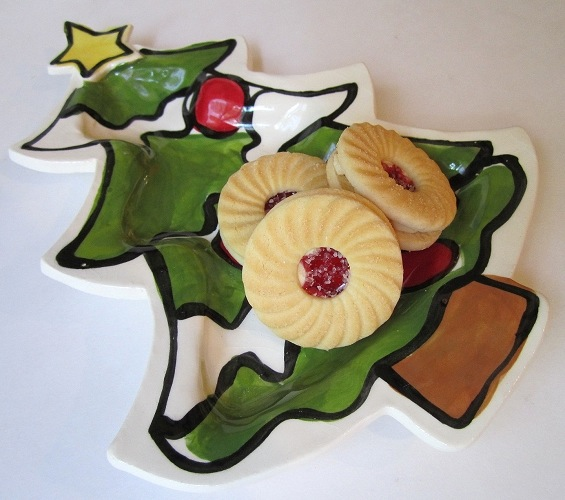 Winter Christmas Tree Dish by Nicole Engblom - © Blue Pomegranate Gallery