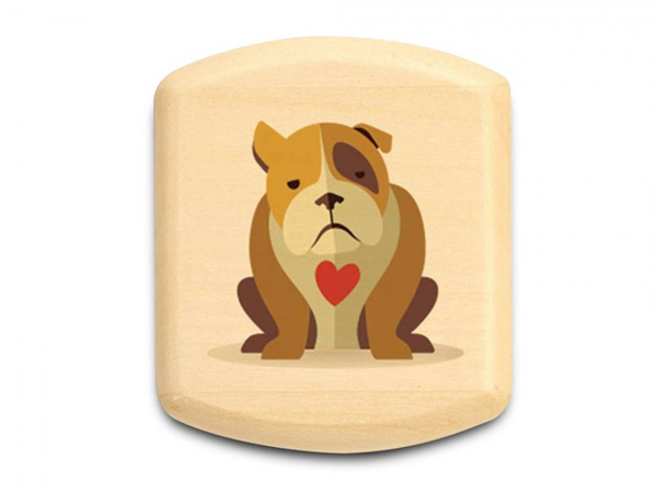"Bulldog Love Box 1/2 x 2 x 2"" by Michael Fisher"