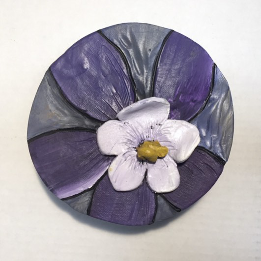 "Coumbine, 6"" Circle Tile by Carol Fennell"