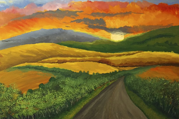 Byways by John C Durr 24 x 36""