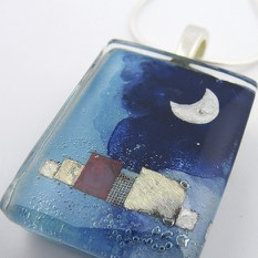 Night in the Village Pendant by Mor - © Blue Pomegranate Gallery