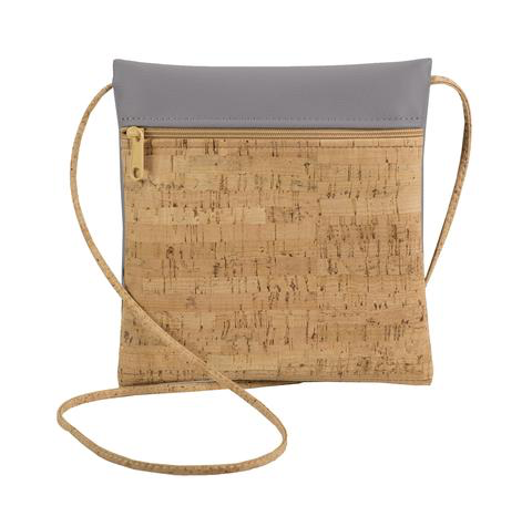 Lilac Faux Leather Be Lively SM Cork Cross Body Bag - Natalie DiBello - © Blue Pomegranate Gallery