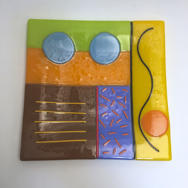 Color Block Confetti Plate by Anne Nye - © Blue Pomegranate Gallery
