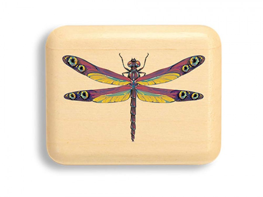"Double Eye Dragonfly Box 1/2 x 2 x 2"" by Michael Fisher"