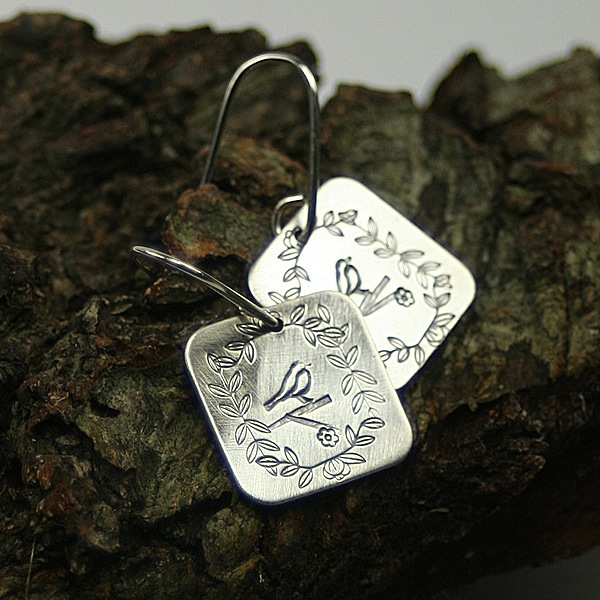 Story Book Earrings by McQueen - © Blue Pomegranate Gallery