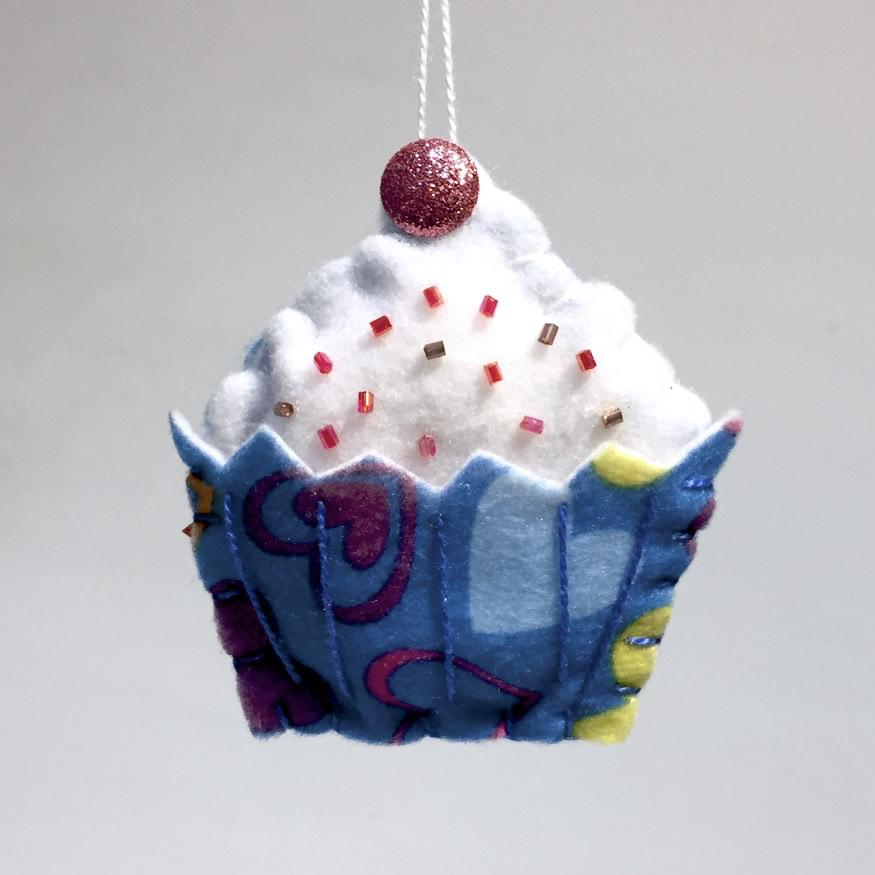 Felted Cupcake Ornaments by Lois Froistad - © Blue Pomegranate Gallery