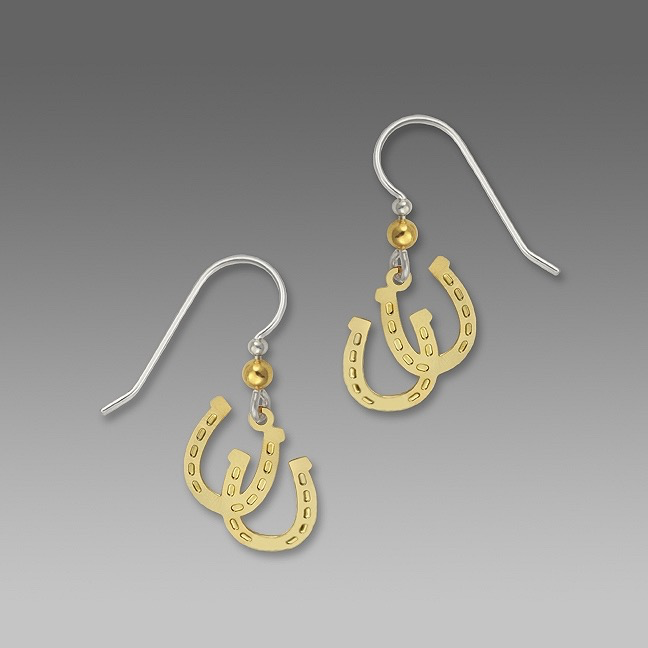 1443 Lucky Horseshoe Earrings by Barbara MacCambridge - © Blue Pomegranate Gallery