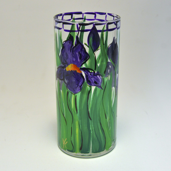 Iris Vase by Anne Flynn