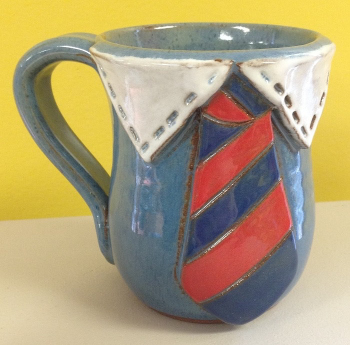 Tie Mug by JoAnn Stratakos - © Blue Pomegranate Gallery