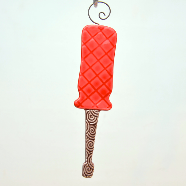 Clay screwdriver handmade ornament - © Blue Pomegranate Gallery