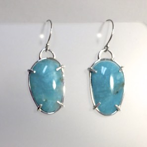 Apatite Wire Wrapped Earrings by Cassie Leaders