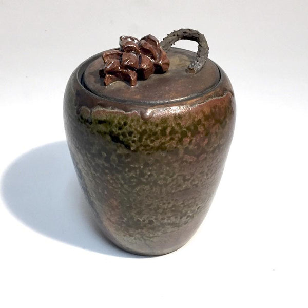 Pine Cone Lidded Pot by Tim Axtman