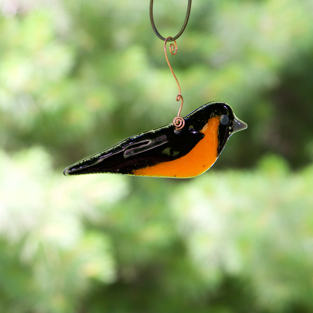 Oriole Sun Catcher by Heidi Riha - © Blue Pomegranate Gallery