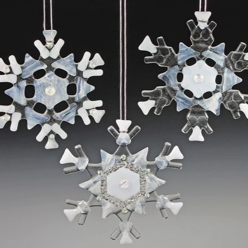 "6"" Snowflake Ornament/Sun Catcher by Charlotte Behrens - © Blue Pomegranate Gallery"