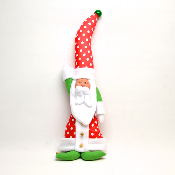 Tall Hat Hanging Santa in Polka Dots by Debbie McIntyre *Last Chance Item - © Blue Pomegranate Gallery