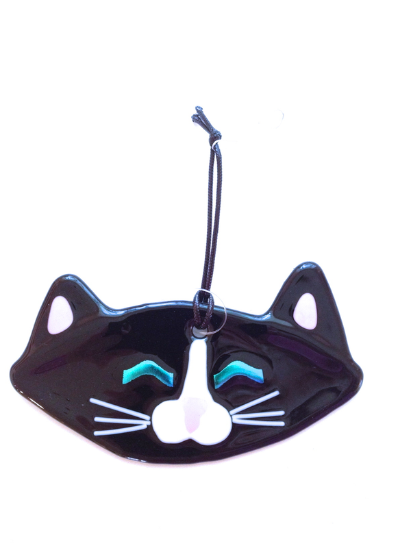 Mickie, Black Cat Ornament by Charlotte Behrens