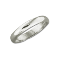 Sterling Half Round 3.3mm Ring by Mark Steel - © Blue Pomegranate Gallery
