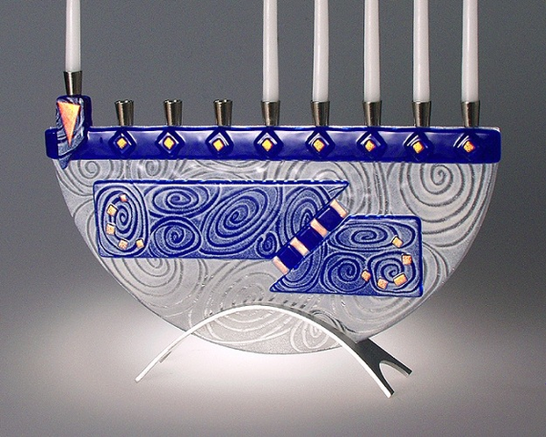 Nova Blue Menorah by Sara Beames