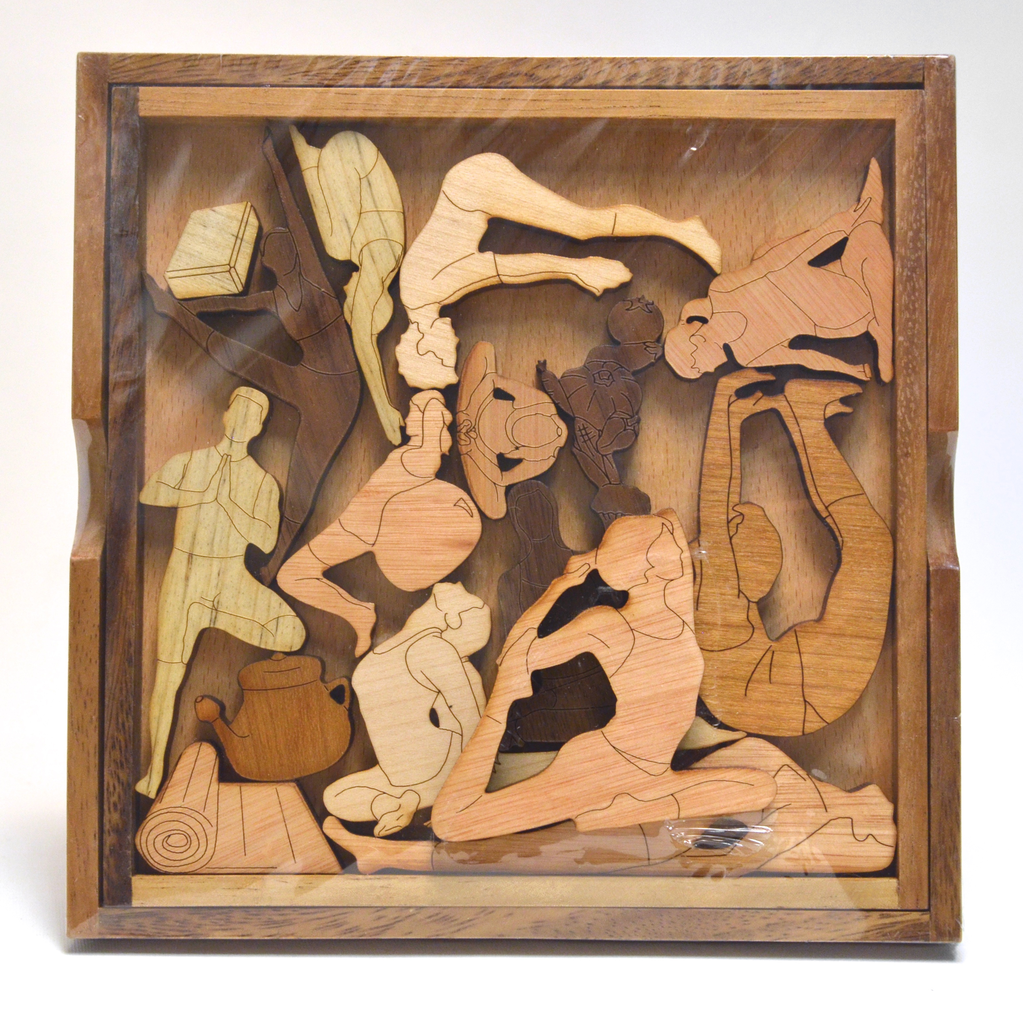Yoga Wood Puzzle by David Janelle - © Blue Pomegranate Gallery