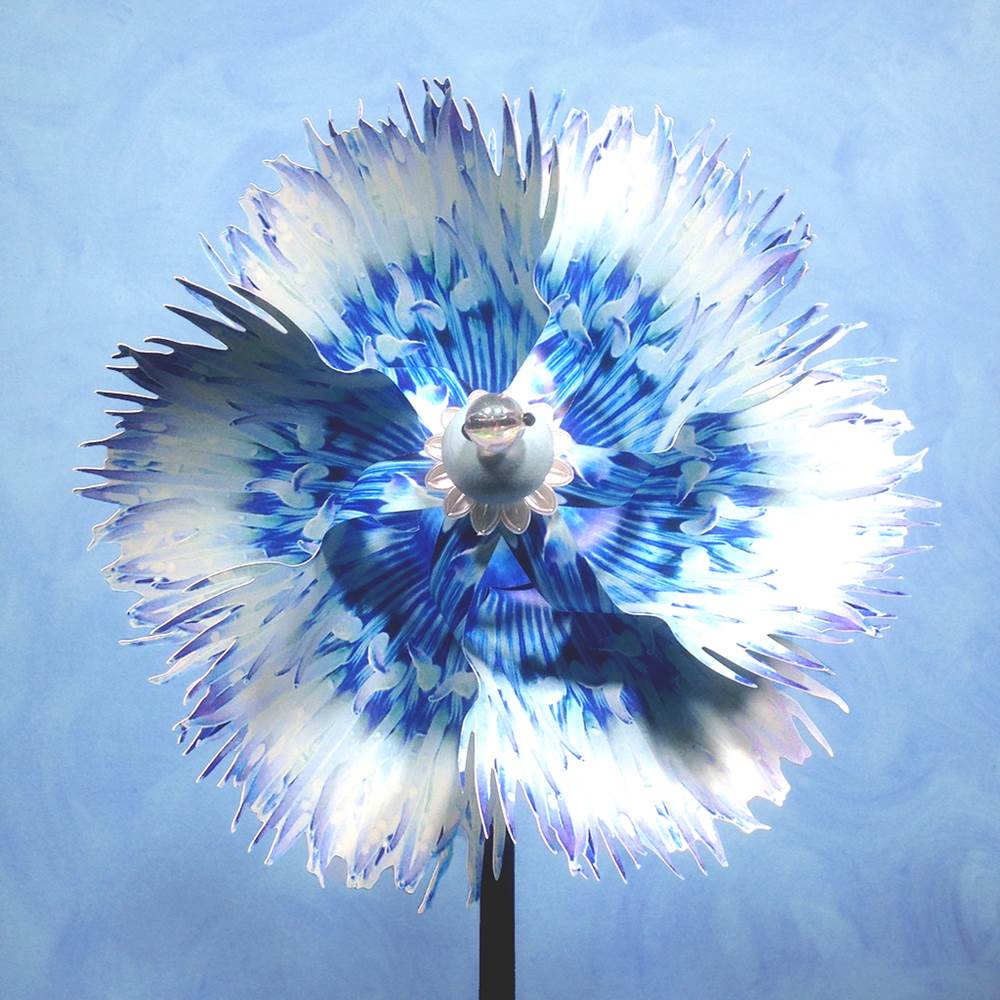 PA- Anemone Pinwheel Spinner Whirligig - © Blue Pomegranate Gallery