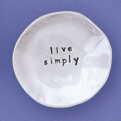 Live Simply Charm Bowl by Bonnie Bond - © Blue Pomegranate Gallery