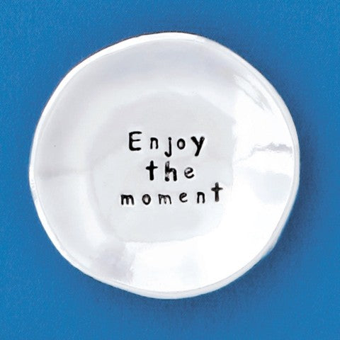 Enjoy the Moment Charm Bowl by Bonnie Bond - © Blue Pomegranate Gallery