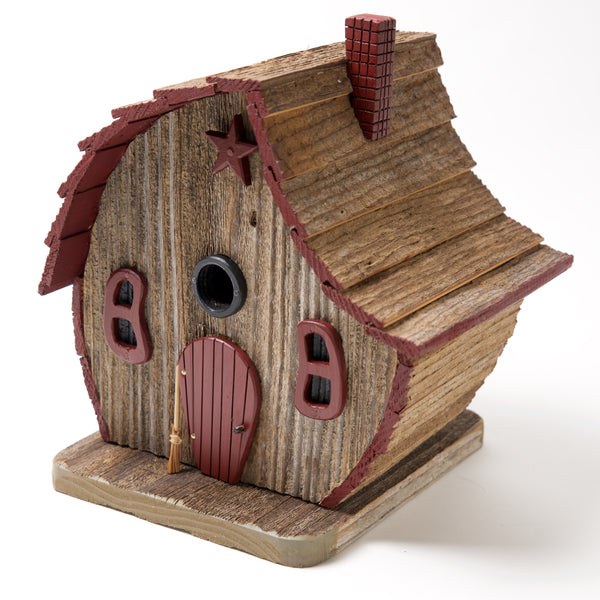Burgundy Weathered Bird House by Coulter & Determan - © Blue Pomegranate Gallery