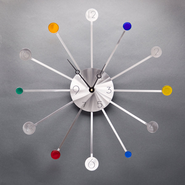 Starburst Wall Clock with Glass by Sondra Gerber - © Blue Pomegranate Gallery